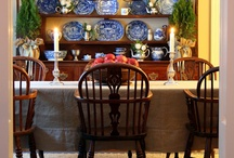 decorated Curio Cabinet