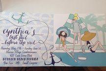 | invitations | / All personally designed by Caroline Frierson of Sweet Caroline Designs www.sweetcarolinedesigns.com