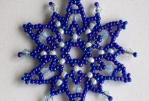 Christmas #2 - Beads / Beaded snowflakes and stars I want to make for 2014.