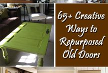 Repurpose Old Doors / Create a vintage look and feel for your home by repurposing your old doors.