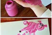 gyerekekkel festés
