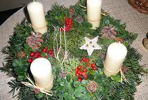 Vánoční dekorace a advent / Adventní věnce