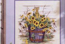 vyšívání  Paula Vaughan´s Bauquets and Blossoms - mtecuka