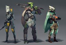 scifi warriors