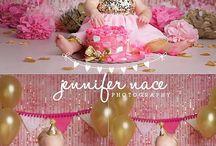 Pink and Gold Cake Smash