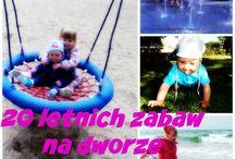 Zabawy podwórkowe /Kid's outdoor activities / tablica pełna pomysłów na kreatywną zabawę na dworze