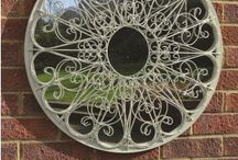 GARDEN MIRRORS / Do you have an outside space you are never quite sure what to do with? We have just the answer here at MirrorOutlet . . . why not enhance that certain area with a beautiful garden mirror.  Available in a wide range of sizes and styles, the garden mirrors add an extra dimension to your outside space giving the feeling of a bigger green or seating area, while injecting a window of opportunity into a brick wall, shed or fence when all else has failed.