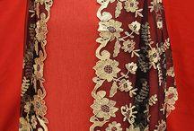 Echarpes Rectangulares y Ovalados / Prendas clasicas orientadas como complemento del traje de fiesta.