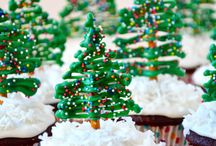 "Christmas Cakes & Cupcakes / ***In order to better manage over 1,000 Christmas ""pins"", there are now 8 different Christmas themed boards (including at least 3 Christmas/Winter themed food/recipe boards) plus a ""Wreath"" board for wreaths for any season  Christmas (and winter) themed recipes for cakes, cheesecakes, brownies and cupcakes - There are at least 3 ""Christmas/Winter"" recipe themed boards. / by Nancy Thomas"
