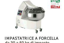 Impastatrice a Forcella     Fork mixer  -Pètrin a axe oblique / Impastatrici a braccia tuffanti per panific, laboratorii e pasticcerie.