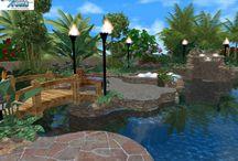 3D Design Portfolio / 3D swimming pool design portfolio by Artful Pools Design and Consultation