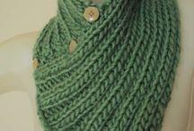 golas de tricô/croche
