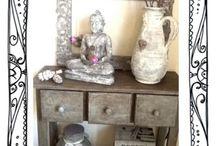 Annie Sloan project 1 / Het eerste project is klaar! Alles met chateau grey, graphite, old white geschuurd clear wax en dark wax van Annie Sloan.