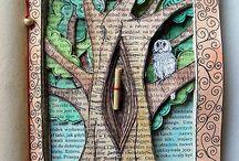 Altered book art / Libri trasformati in opere personali