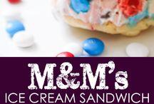 Cakes and ice cream