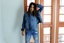 TRIPLE DENIM / Jean suit, lets go that one better 'triple denim'. First of all this look has come along way and it's not as hard to pull off as you might think.  Take the risk and don't forget to steal your boyfriends jacket.