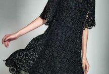 Связаные крючком платья