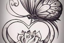 srdce s motylom