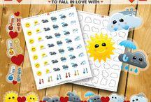 Planner Stickers / Fun planner stickers, for Erin Condren, MAMBI Happy Planner, Glam Planning Made Easy, ECLP