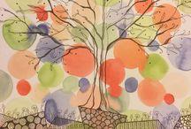 Blind Monkey Studios / Original artwork, watercolor, zentangle