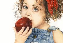 Red apple by Lindy Handlside
