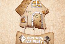 игрушки-шитье кофейные домики