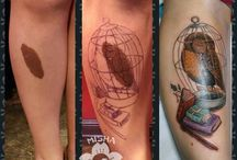 Misha Tattoo's: Cover Ups / Cover up tattoos I have done.  www.misha-art.com / by Misha Noneyobusiness