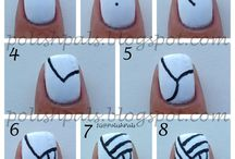 Sports Nail Art / Wear your fandom on your fingers with nail designs tributing your favorite sport, team or athlete.