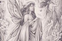 Fadas e Mitológicos para colorir