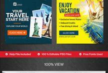 Travel Widgets & Banners Design