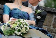 Nunti albastre / #Torturi, #rochii de #mireasa, #decoruri de #nunta in nuante de #albastru