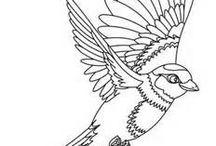 vogel sillouet