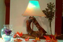 paul's art design / #beautiful lamp #beautiful light #lamp #drift wood lamp