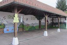 Fresque Ecole Maternelle / Fresque Enfantine theme Nature réalisée à l'école Maternelle de Brinckheim (68)