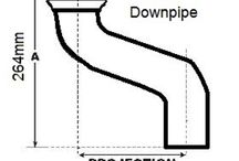 Cast Iron 75mm Downpipe Fixed Offsets / Offset Measurements for Hargreaves 75mm Round Downpipes