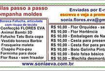 Crafts Apostilas artesanato E.V.A com passo a passo acompanha moldes / http://www.soniaeva.com.br/