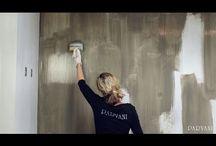 Kalk verf muur