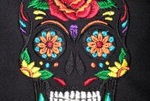 """Sugar Skulls Digital embroidery designs / Digital embroidery designs inspired by the day of the dead.    Calavera, sugar skulls which is used in the Mexican celebration of the Day of the Dead and the Roman Catholic holiday All Souls Day """"Wikipedia"""""""