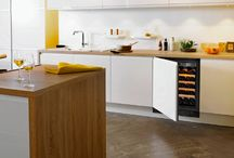 Integrated wine cabinets / Large wine cabinets, under-counter wine cabinets, … all the built-in wine cabinets integrate themselves perfectly to ones interior. #interiordesign #kitchendesign
