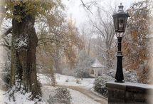4 roční doby - zima, sníh, rampouchy, mráz