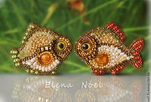 Beaded Brooches and Badges / Beaded brooch Beaded badge Bead embroidery Handmade