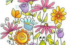 dessins coloriés