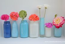 ceramica, vetro, fiori
