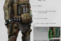 Futuristic Soldiers & Suit