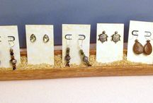 Craft Show Display Idea / unique earring card display.