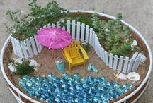 Miniature gardens / Ideas for miniature gardens to make with Jack / by Nicky Gosen