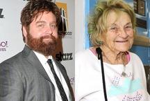"""Zach Galifianakis / Zach Galifianakis na premierę swojego najnowszego filmu """"Kac Vegas III"""" przyprowadził tajemniczą staruszkę. Okazało się, że kobieta to nie jego babcia czy matka, a przyjaciółka z pralni w Los Angeles, której pomógł stanąć na nogi po tym, jak straciła dom i wylądowała na ulicy. Więcej pod linkiem: http://louloublog.pl/aktor-z-kac-vegas-o-zlotym-sercu/"""