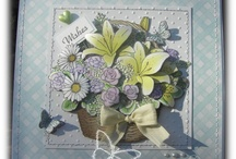 cards-Decoupage technique / backgrounds frames and ideas  / by Christine Ann Clark