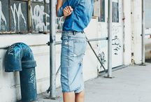 Jeans skirts outfit