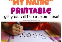 Preschool- Name Writing Activities